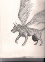 Winged Wolf by baos3113