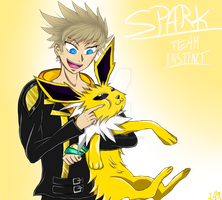 Spark and Jolteon by landedasteroid9