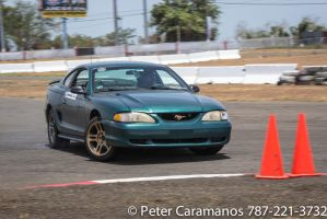 Drifting Ford Mustang clipping point by Caramanos2000