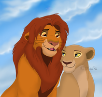 King Simba and Queen Nala by HydraCarina