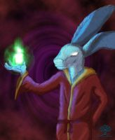 Better Wizard Bunny by theworldiveknown