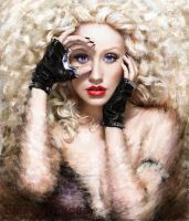 Painting Christina Aguilera by ChipWhitehouse