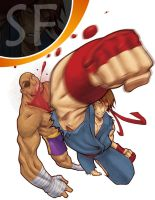 ryu vs. sagat by DXSinfinite