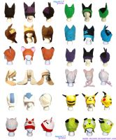 Anime Cartoon Fleece hats by Haru-Megumi