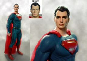 Henry Cavill Superman custom doll / figure repaint by noeling