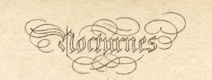 Nocturnes vintage lettering by HauntingVisionsStock