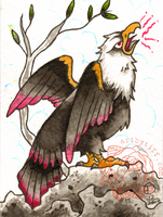 Traditional Eagle ACEO Card by tifftoxic
