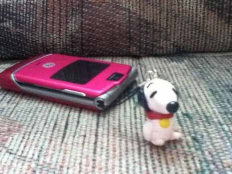 Snoopy phone charm by PharaohBec