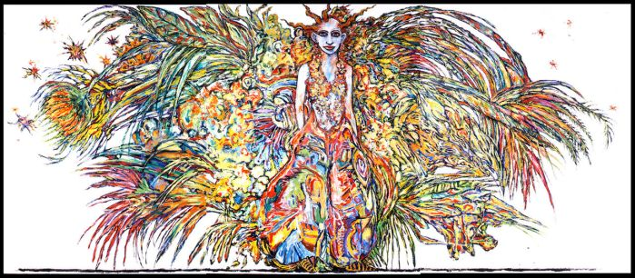 Candy Dressed for Abarat (Triptych) by CliveBarker