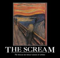 the scream demotivational by Weirddudeguy