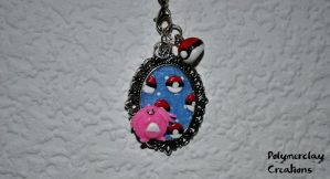 Pokemon (necklace part) by PolymerclayCreations