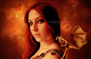 La Dame et son Dragon by Kallaria