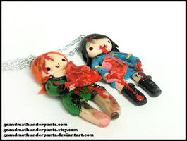 Custom Zombie BFF Set III by GrandmaThunderpants