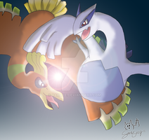 :Ho-Oh and Lugia: by Rakaye