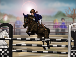 2nd - RWES - 3DE - Ginger - Show Jumping by RQsf