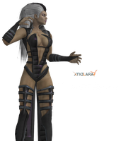 Sindel mk3 fighting pose by MKiss333