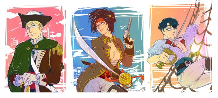 SnK: Pirates! by ravenwing136
