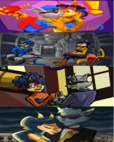 sly and carmelita love  in four games by FCC93