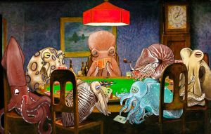 Cephalopods Playing Poker by step-toe