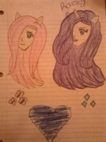 Fluttershy and Rarity heads by EuroPrincess