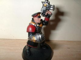 Imperial Guard Commissar by DeviantRye