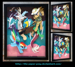 Commission: Discord Showdown Shadowbox by The-Paper-Pony