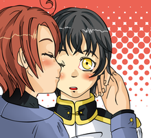 Kiss on the cheek by Suiyan