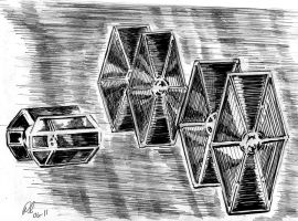 TIE Fighters in Pursuit by philippeL