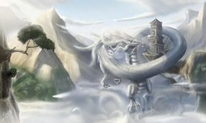 Dragon of mists by RhexFiremind
