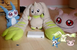Digimon Plushies by lowlaury