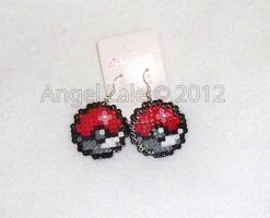 pokeball earrings by AngelLale87