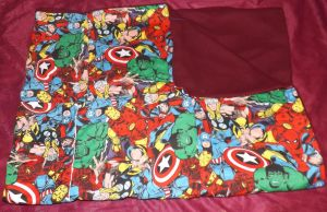 Avengers Quilted Throw Blanket by LadyMidnight81