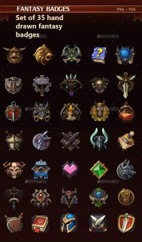 Fantasy Badges by GraphicAssets