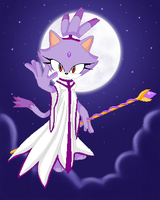 Sonic Myths: Moon mage Blaze by darkdraik