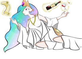 Celestia Relaxation (Colored)(Humanized) by blossomxdexter4eva