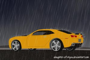 Bumblebee in the Rain by daughter-of-Myou