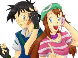 Ash and Melody by DE-Juanchi