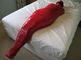 Mummified in Packing Tape - 1 by BritBastard