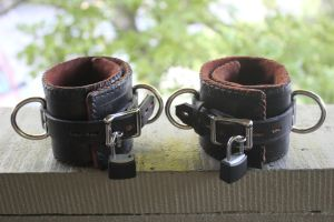Leather Ankle Cuffs rear by connerchristopher