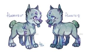 Fluorite Gemstaff pups - auction - CLOSED by Fuki-adopts