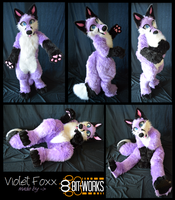 Violet Foxx -digitigrade fullsuit commission- by TrelDaWolf