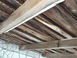 Old Wooden Roof Beams Art by Ox3ArtStock