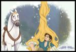 Tangled-Flynn Rider and Horse by FreeWingsS
