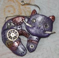 Steampunk cat by TwitchyTail