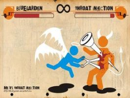 Me VS Throat Infection by Club-Vector