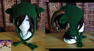 Earth Tone Ram Hat by Cloud-Leporifelis