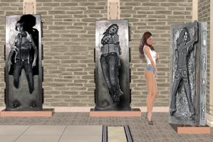 blue jean mistress trophy room carbonite prize by willartmaster