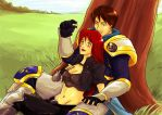 Garen and Katarina: The proposal (Colored) by The-Piojolopez
