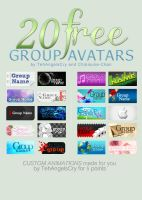 20 FREE Group Avatars: Collaboration by Chibisuke-Chan