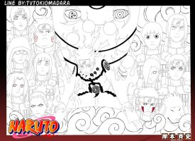 Naruto 515 Cover LineArt by XMadaramangekyouX